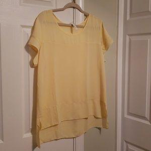 Butter yellow blouse new xl